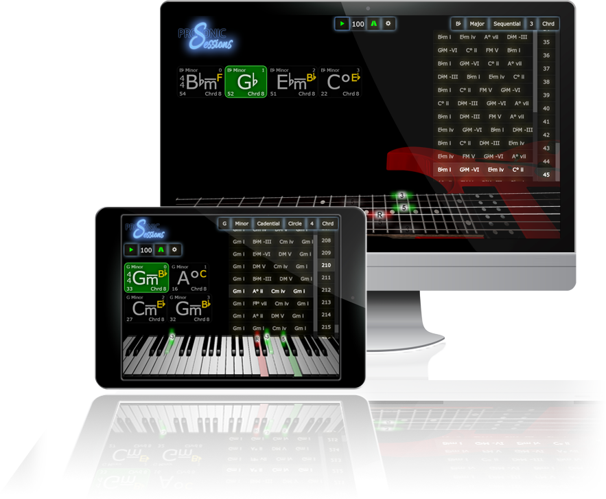 Guitar and Piano Learning Software